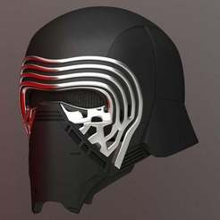 Free STL files Kylo Ren Helmet, Crackers3D4D