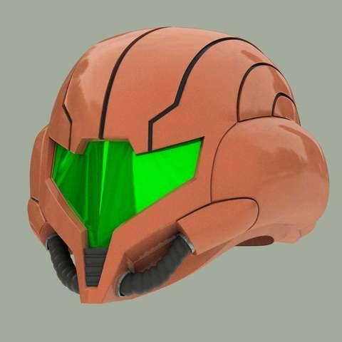 Download free 3D printing templates Wearable Samus Aran Helmet (Metroid Prime 3), Crackers3D4D