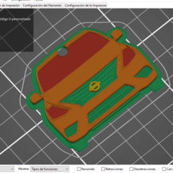 laminadoVersa.png Download STL file Nissan VERSA key ring • 3D printing model, in3dtapa