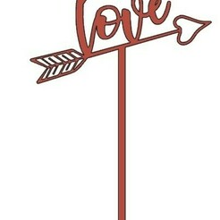 LoveFlecha.jpg Download STL file Love & Arrow • 3D printer template, in3dtapa