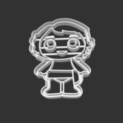 Download 3D printer templates COOKIE CUTTER - BABY MOANA (MOANA SING ALONG), JOSUEADONA