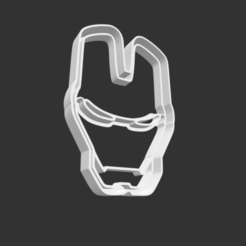 Download 3D printer designs COOKIE CUTTER - IRON-MAN (LOGO)., JOSUEADONA