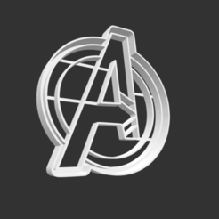 Download 3D printer designs COOKIE CUTTER - AVENGERS (LOGO)., JOSUEADONA