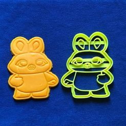 Download 3D printing templates COOKIE CUTTER - BUNNY (TOY STORY 4), JOSUEADONA