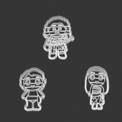 Download 3D printer files COOKIE CUTTER - MOANA, BABY MOANA AND MUAI (MOANA SING ALONG), JOSUEADONA