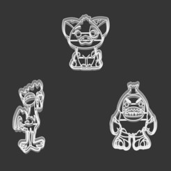 Download 3D printer templates COOKIE CUTTER - PIRATE, HEI HEI AND PUA (MOANA SING ALONG), JOSUEADONA