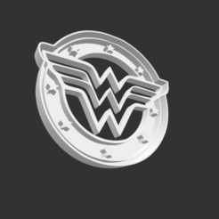 Download STL file COOKIE CUTTER - WONDER WOMAN (LOGO)., JOSUEADONA