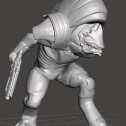 Download free 3D printer templates krogan charging mass effect 3, emty_void