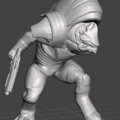 Download free 3D printer templates krogan charging mass effect 3, emty_void