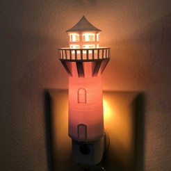 IMG-1048.jpg Download STL file My Lighthouse-3D Lighthouse Nightlight • Model to 3D print, TreasurousTrey