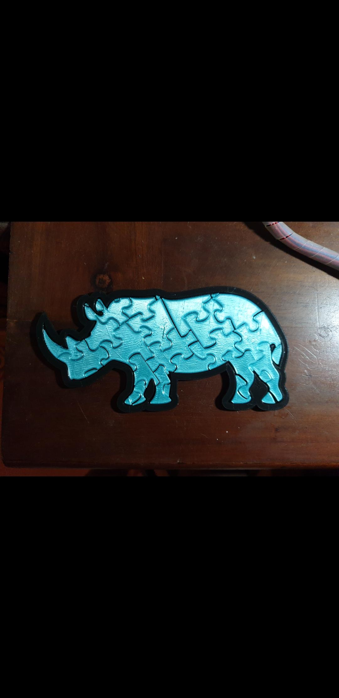Screenshot_20190930-123514_Gallery.jpg Download free STL file Rhinoceros Puzzle • Template to 3D print, Renee_Taylor