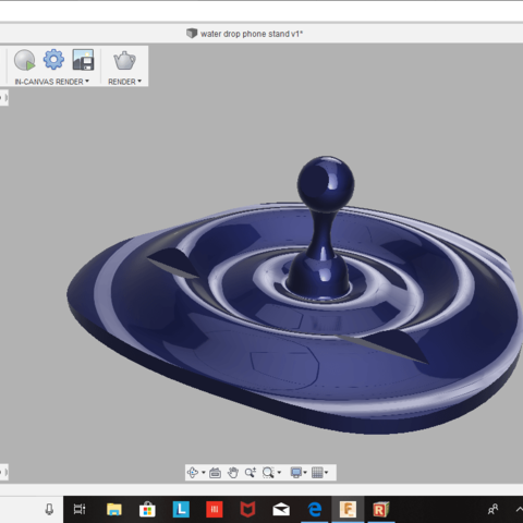 Download free STL file Water Droplet Phone Stand • 3D printable template, Renee_Taylor