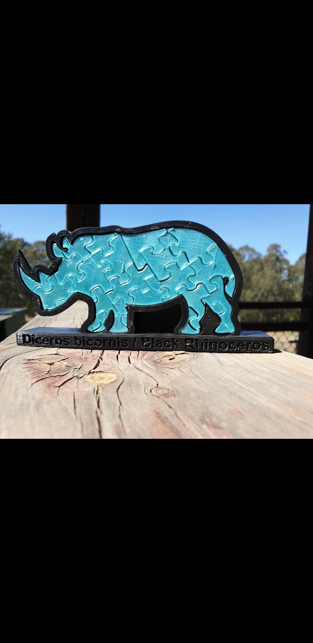 Screenshot_20190930-123334_Gallery.jpg Download free STL file Rhinoceros Puzzle • Template to 3D print, Renee_Taylor