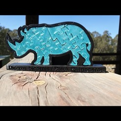 Download free 3D printing files Rhinoceros Puzzle, Renee_Taylor
