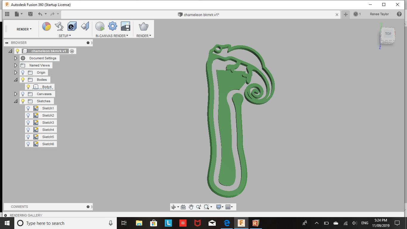 2019-09-11.png Télécharger fichier STL gratuit Signet caméléon • Objet pour impression 3D, Renee_Taylor
