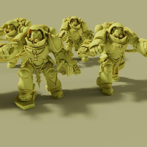 1.png Download free STL file Flame Armed Instigators • 3D printable template, danny_cyanide