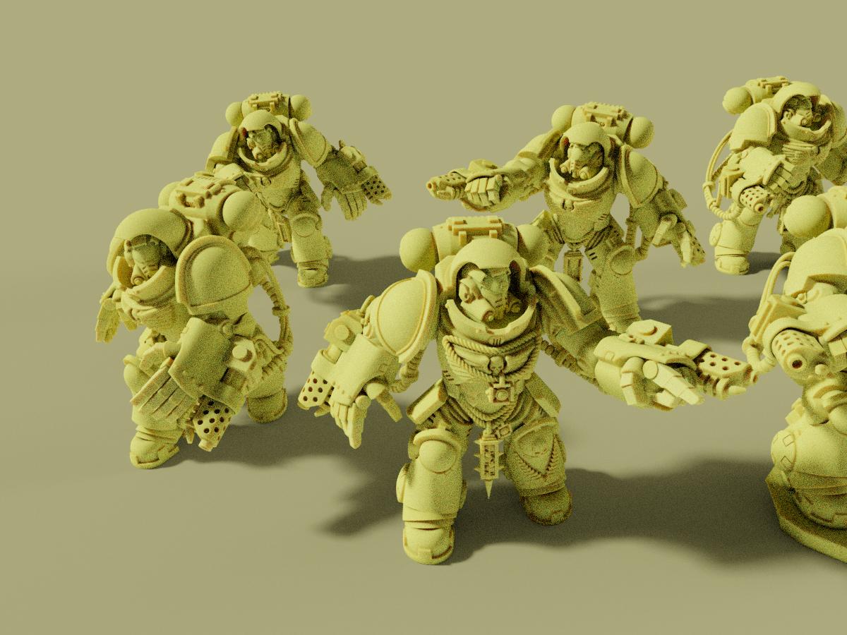 2.png Download free STL file Flame Armed Instigators • 3D printable template, danny_cyanide