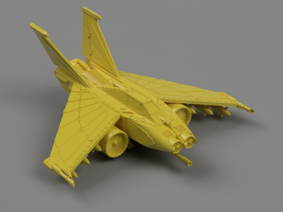 b1ca29c0-c796-4598-abe2-7099b2816d71.JPEG Download free STL file 1.21 gigawatt attack fighter from the far future • 3D printable design, danny_cyanide