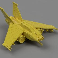 Download free STL file 1.21 gigawatt attack fighter from the far future • 3D printable design, danny_cyanide