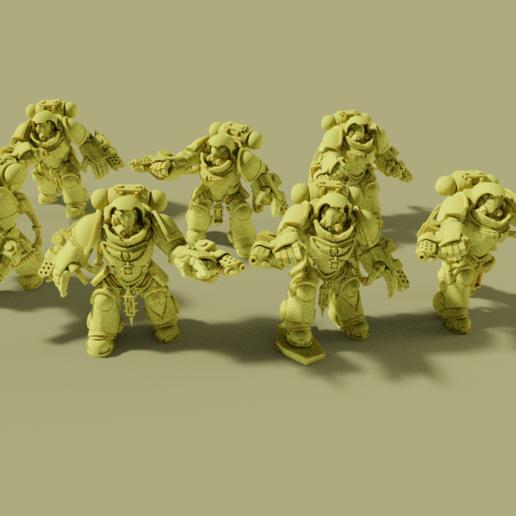 group.png Download free STL file Flame Armed Instigators • 3D printable template, danny_cyanide