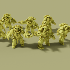 group.png Download free STL file Flame Armed Instigators • 3D printable template, danny_cyanide