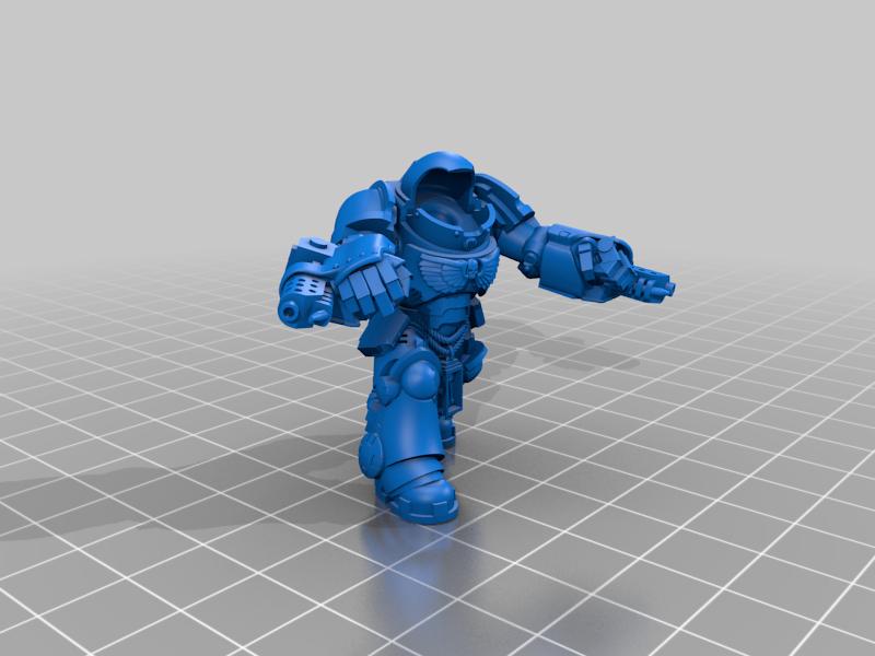 Aggressor_3_Body.png Download free STL file Flame Armed Instigators • 3D printable template, danny_cyanide