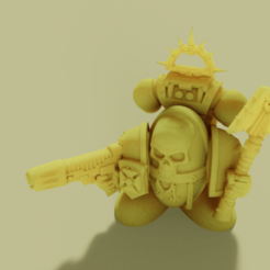 Download free STL file Short and Stumpy Ultrasmurf Chappy • 3D printer template, danny_cyanide