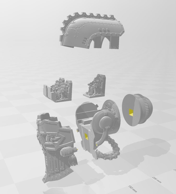 Exploded_view.jpg Download free STL file Emperor Titan Head with crew • 3D printing object, danny_cyanide