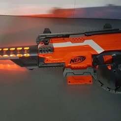 Imprimir en 3D gratis Riel de barril NERF iluminado, LucasLabrador