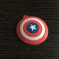 Download free STL file Captain America Shield Keychain, LucasLabrador