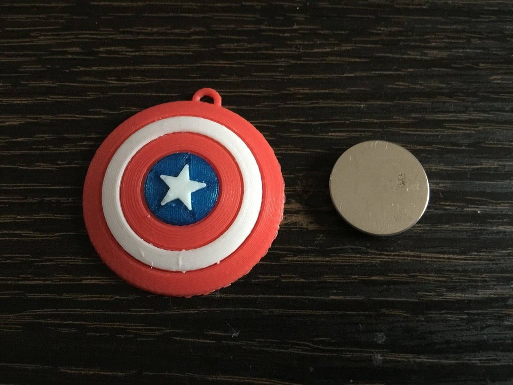 5b46891a7c9dcd160301a9c8a4e26009_display_large.JPG Télécharger fichier STL gratuit Porte-clés Captain America Shield • Modèle pour impression 3D, LucasLabrador