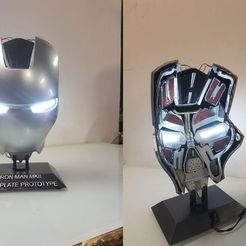 Download free 3D printer model Iron Man MK2 MK 2 Faceplate Mask interieur, LucasLabrador