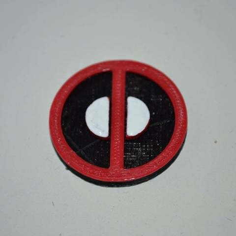 Free 3D print files Deadpool symbol / logo, Yalahst
