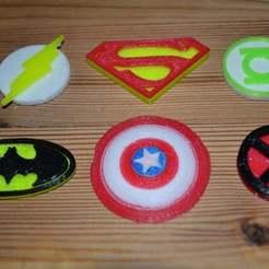 Télécharger plan imprimante 3D gatuit Logo Superman, Yalahst