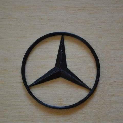Free STL Mercedes logo, Yalahst