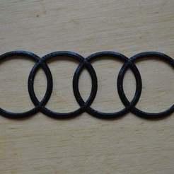 Free 3D printer files Audi logo, Yalahst