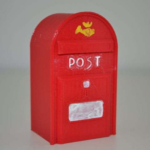 Free 3D print files Danish Postbox, Yalahst