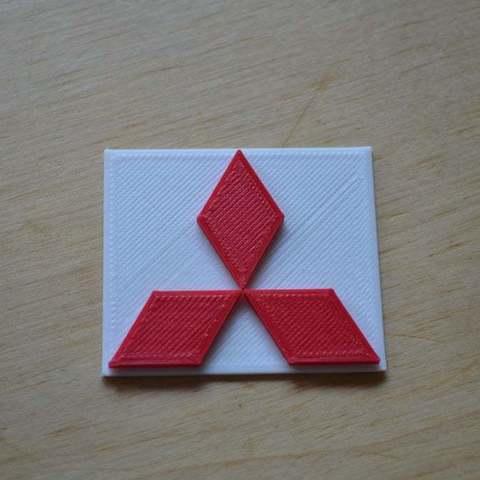 Free 3D printer model Mitsubishi logo, Yalahst