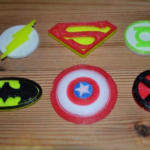 Download free 3D printer templates Batman Symbol, Yalahst