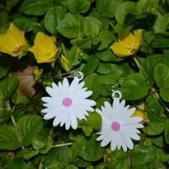 Descargar STL gratis Pendientes de flores, Yalahst