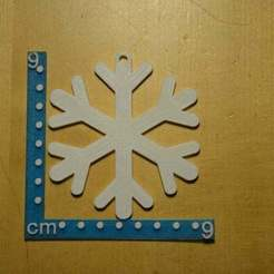 Free 3D print files Snowflake ornament, Yalahst