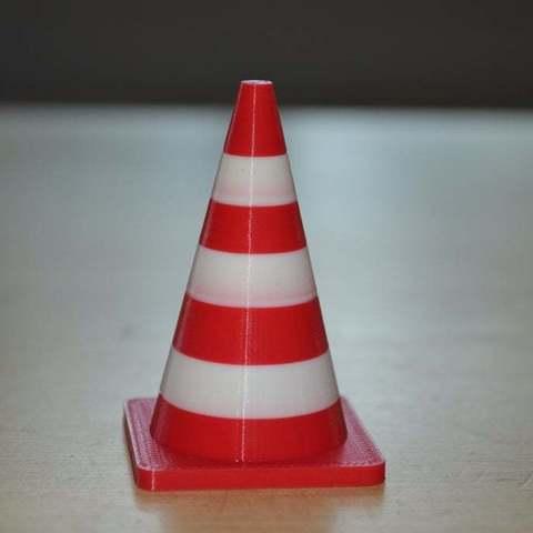Free 3D printer files Traffic cone, Yalahst