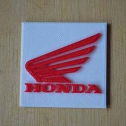 Impresiones 3D gratis El logotipo de Honda para motos, Yalahst