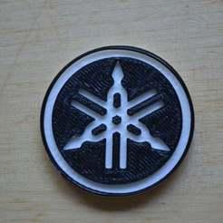 Descargar Modelos 3D para imprimir gratis Logo Yamaha, Yalahst