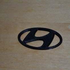 Imprimir en 3D gratis Logotipo de Hyundai, Yalahst