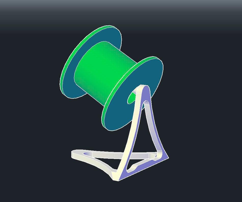 1_display_large.jpg Download free STL file 1 piece smart filament spool holder • 3D printer model, niceandeasy