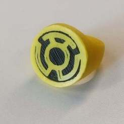 Download free 3D printer model Yellow Lantern Ring for Dual Extrusion, niceandeasy
