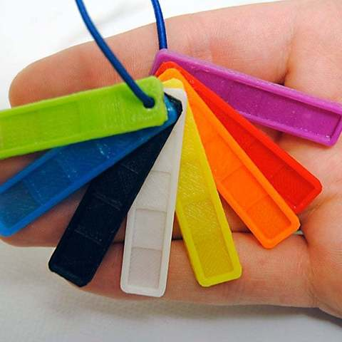 Download free 3D printer templates Filament Color Swatch Keychain, niceandeasy
