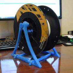 Download free 3D printer designs Smart and simple filament Spool Holder (all printed version), niceandeasy