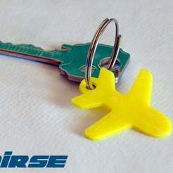 Download free STL file Plane / aeroplane Keychain • 3D printing model, niceandeasy